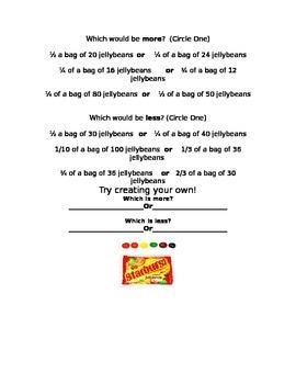 Exploring Fractions using Starburst Jellybeans