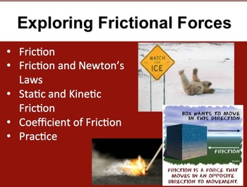 Exploring Frictional Forces - A Physics PowerPoint Lesson & Notes
