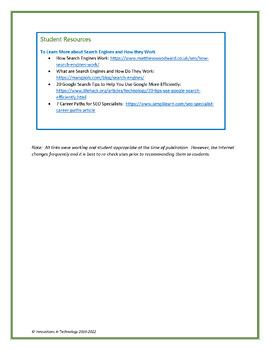 Exploring Google Search Features WebQuest - Scavenger Hunt