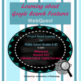 Exploring Google Search Features WebQuest - Scavenger Hunt | Distance Learning