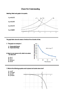 Exploring Graphs of Exponential Functions