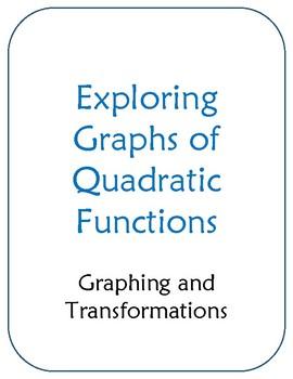 Exploring Graphs of Quadratic Functions