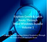 Exploring Greek & Latin Roots through Word Windows 50+ Roo