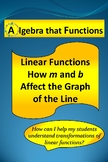 "Linear Functions Exploring How ""m"" and ""b"" Affect the Graph of the Line"