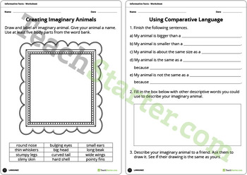 Exploring Informative Texts Unit Plan – Year 1 and Year 2