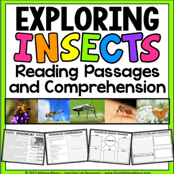 Insects - Reading Passages and Comprehension Activities