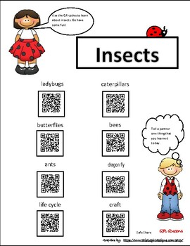 Insects with QR codes