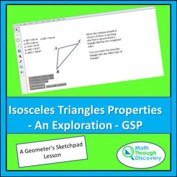 Isosceles Triangles Properties - An Exploration - GSP