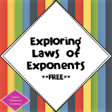 Exploring Laws of Exponents!