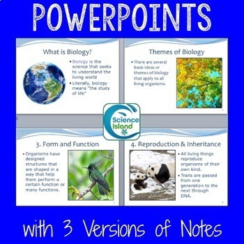 Exploring Life Unit Bundle - Introduction to Biology PowerPoints, Notes & More