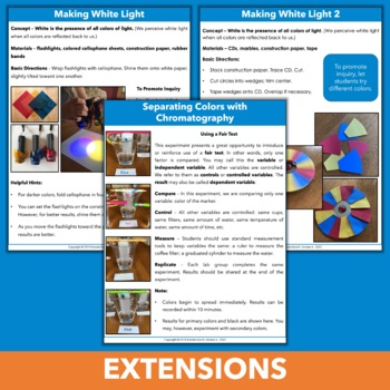 Light Unit - Experiments & More for Third Grade and Fourth Grade
