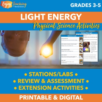 Light Energy Unit: Light Experiments and More for Grades 3, 4, and 5