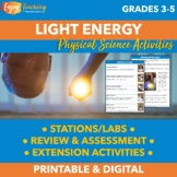 Light Energy Unit for Third Grade, Fourth Grade and Fifth Grade
