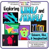 Art Lesson Bundle Kindergarten Exploring Lines and Shapes
