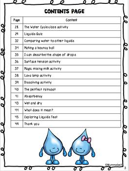 Exploring Liquids - A Science Inquiry Unit