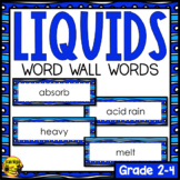 Liquids Word Wall Words- Editable