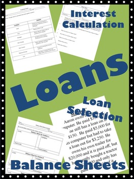 Exploring Loan Types, Credit, Scenerios, Assets, Liabilities, and Balance Sheets