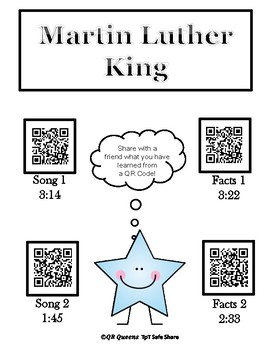 Martin Luther King using QR Codes and Links