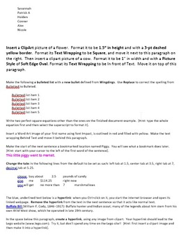 Exploring Microsoft Word Technology Lesson Plan & Materials