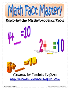 Exploring Missing Addends Facts