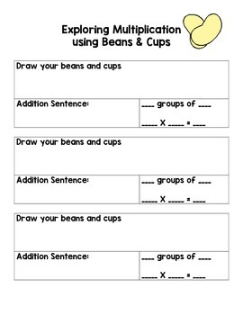 Exploring Multiplication with Beans & Cups