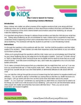 Exploring Negative Emotions in Stuttering Workbook