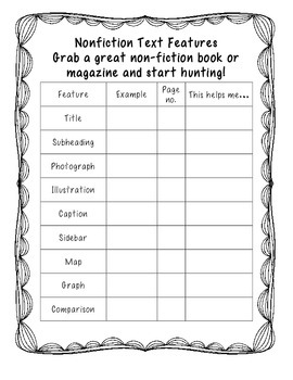 Exploring Non-Fiction Text Features