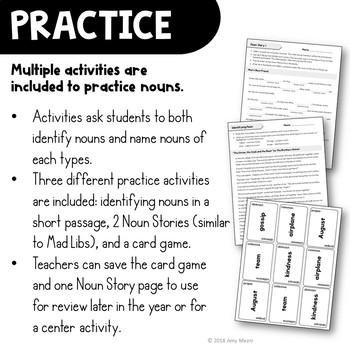 Exploring Nouns Unit: Abstract, Collective, Common, & Proper 3rd Grade