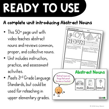 Abstract Nouns Unit: Abstract, Collective, Common, & Proper Distance Learning