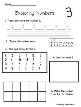 Exploring Number 1-10 Worksheets