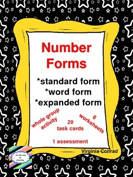 Exploring Number Forms:  Standard, Expanded, and Word Forms