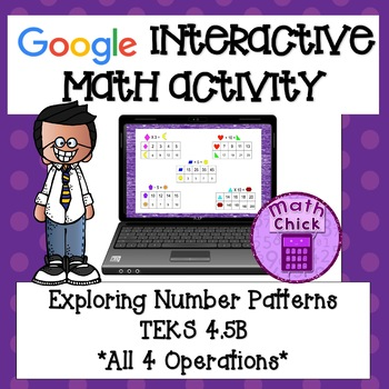 Exploring Number Patterns In/Out TEKS 4.5B Google Classroom (all 4 operations)