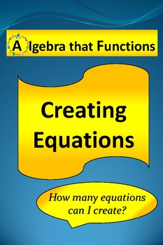 FREE! Creating Equations Activity