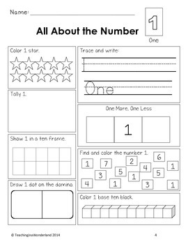 Exploring Numbers 1 to 50 Activity Package