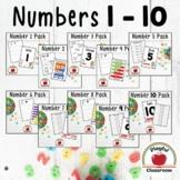 Number Worksheets 1-10 BUNDLE