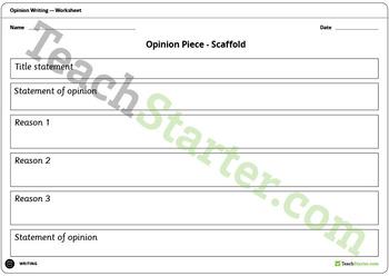 Exploring Opinion Pieces Unit Plan – Grade 1 and Grade 2