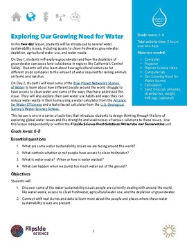 Exploring Our Growing Need for Water