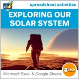 Elementary Spreadsheet Activities - Exploring Our Solar System