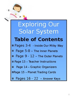 Exploring Our Solar System - Content Reading and Activities for Upper Grades