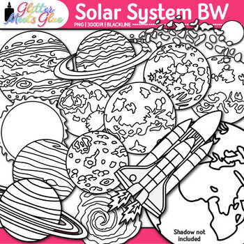 Solar System Clip Art for Science {Planets, Galaxies, Exop