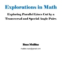 Exploring Parallel Lines Cut by a Transversal and Special