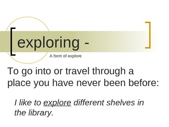 """""""Exploring Parks"""" Vocabulary PowerPoint"""