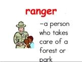 Exploring Parks With Ranger Dockett Vocabulary Power Point