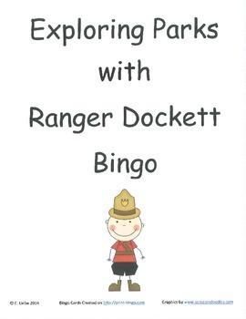 Exploring Parks with Ranger Dockett Bingo Game ~ Language Arts Activity