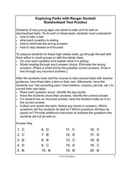 Exploring Parks with Ranger Dockett Standardized Test Practice