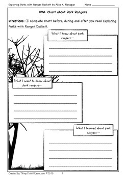 Exploring Parks with Ranger Dockett Student Workbook