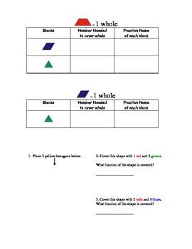 Exploring Pattern Block Fractions   2.G.A.3