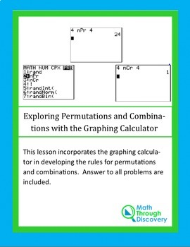 Exploring Permutations and Combinations with the Graphing Calculator