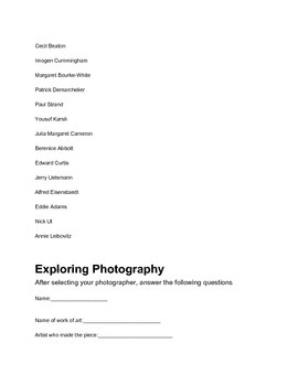 Exploring Photography