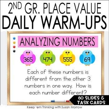 Exploring Place Value:  Challenging Place Value Task Cards 2nd Grade
